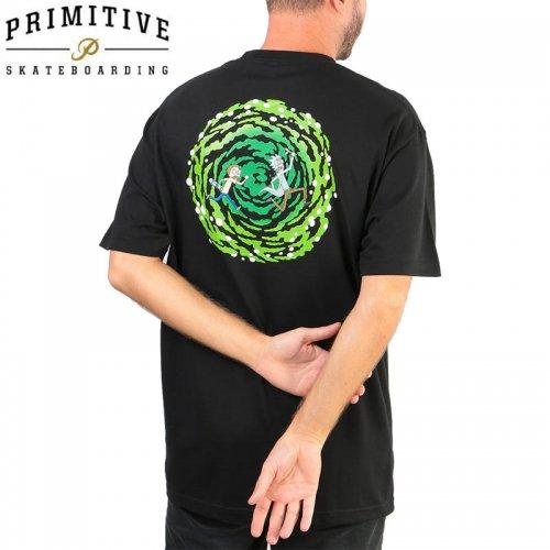 【PRIMITIVE プリミティブ スケボー Tシャツ】NUEVO PORTAL TEE リック・アンド・モーティコラボ【ブラック】NO27