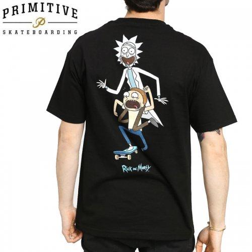 【PRIMITIVE プリミティブ スケボー Tシャツ】CLASSIC P RNM SKATE TEE リック・アンド・モーティコラボ【ブラック】NO28
