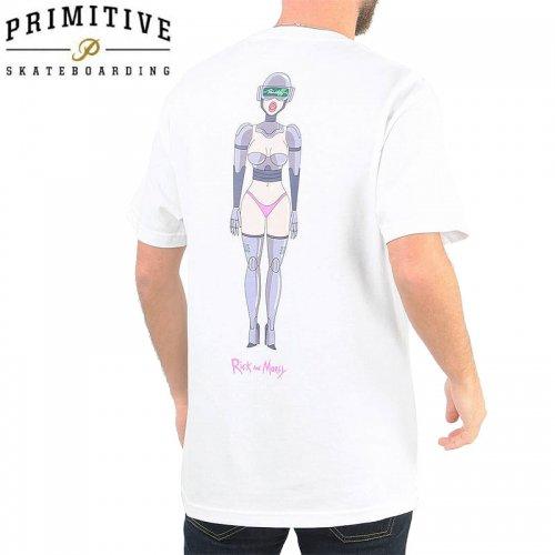 【PRIMITIVE プリミティブ スケボー Tシャツ】GWEN TEE リック・アンド・モーティコラボ【ホワイト】NO30
