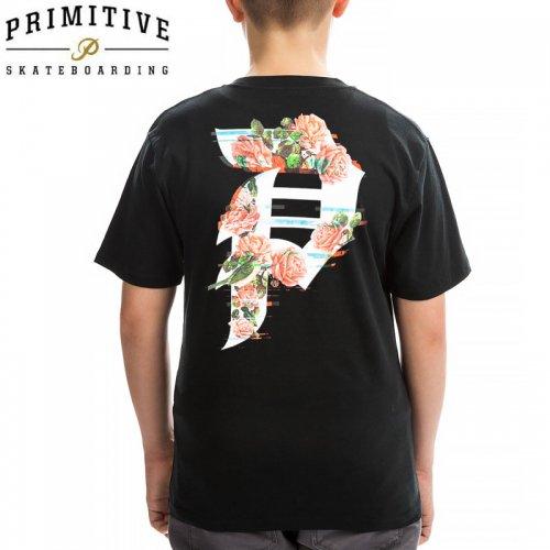 【PRIMITIVE プリミティブ キッズ Tシャツ】DIRTY P GLITCH YM TEE ユーズサイズ【ブラック】NO8