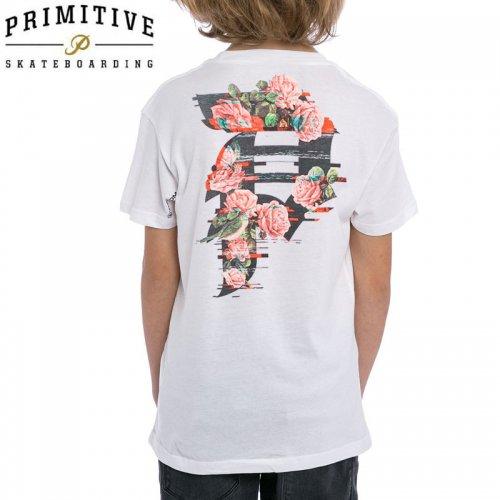 【PRIMITIVE プリミティブ キッズ Tシャツ】DIRTY P GLITCH YM TEE ユーズサイズ【ホワイト】NO9