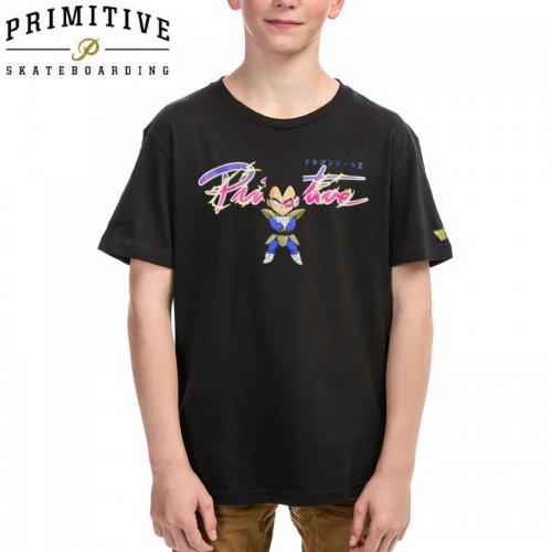 【PRIMITIVE プリミティブ キッズ Tシャツ】NUEVO SD VEGETA YM TEE ドラゴンボールコラボ【ブラック】NO11
