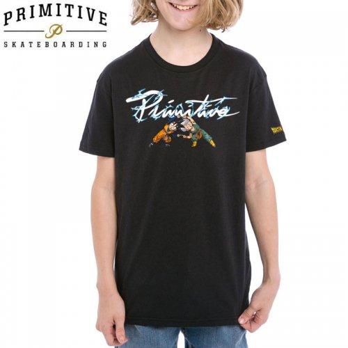 【PRIMITIVE プリミティブ キッズ Tシャツ】NUEVO POWER YM TEE ドラゴンボールコラボ【ブラック】NO12