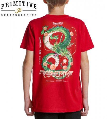 【PRIMITIVE プリミティブ キッズ Tシャツ】SHENRON DIRTY P YOUTH TEE ドラゴンボールコラボ【レッド】NO13