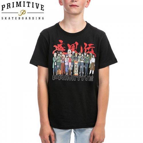 【PRIMITIVE プリミティブ キッズ Tシャツ】LEAF VILLAGE YM TEE ナルト疾風伝コラボ【ブラック】NO14