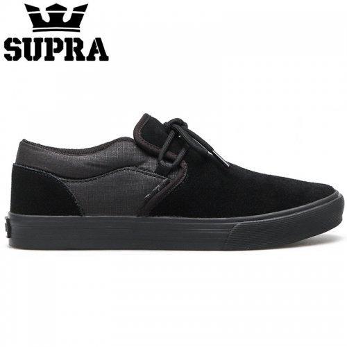 【SUPRA スープラ スケート シューズ】CUBA BLACK BLACK/CAMO スウェード【ブラック】NO5