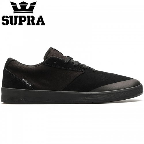 【SUPRA スープラ スケート シューズ】SHIFTER BLACK/BLACK BLACK スウェード【ブラック】NO10
