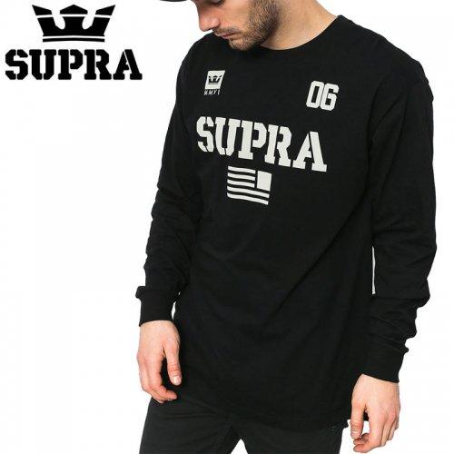 【スープラ SUPRA スケボー ロングTシャツ】TEAM USA L/S TEE【ブラック】NO5
