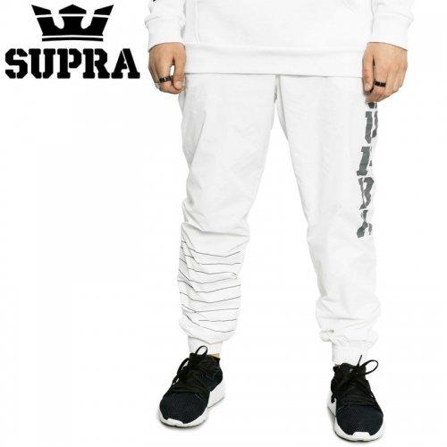【スープラ SUPRA スケボー ジョガーパンツ】DASH PANTS【ホワイト】NO2