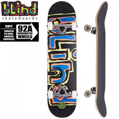 【ブラインド BLIND スケートボード コンプリート】MATTE OG LOGO YELLOW/RED/BLUE COMPLETE 92A[7.75インチ]NO125