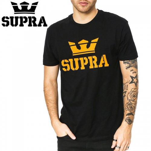 【SUPRA スープラ スケボー Tシャツ】ABOVE TEE BLACK/GOLD TEE【ブラックxゴールド】NO1