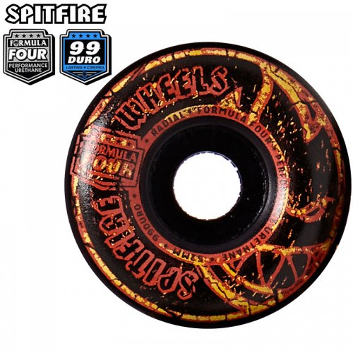 【SPITFIRE スピットファイアー ウィール】FORMULA FOUR F4 99A EMBERS RADIAL BLACK【52mm】NO260