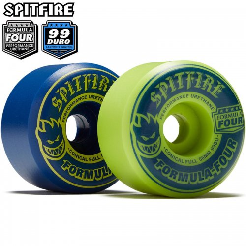 【SPITFIRE スピットファイアー ウィール】FORMULA FOUR F4 99A CONICAL FULL MASH UP NAVY/LIME【54mm】NO263