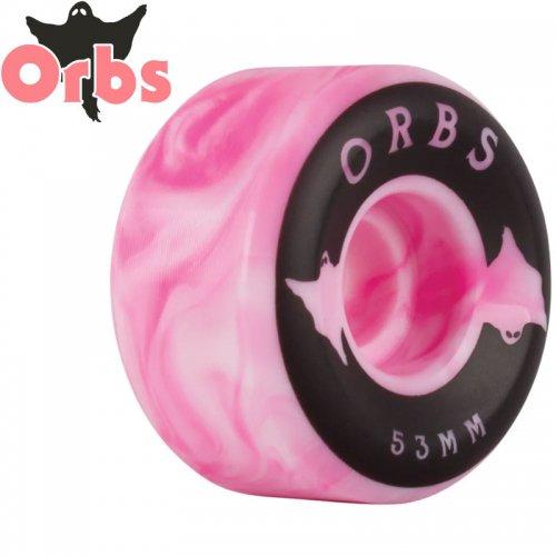 【オーブス ORBS スケボー ウィール】SPECTER SWIRLS PINK/WHITE コニカル 99A【53mm】NO9