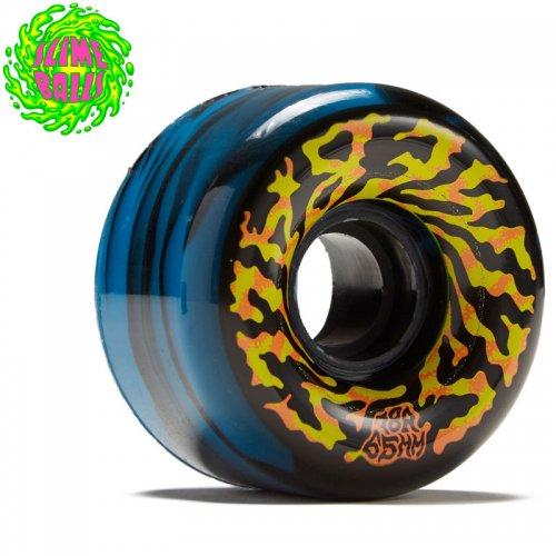 【SANTA CRUZ サンタクルーズ ウィール】SLIME BALLS SWIRLY 78A WHEEL BLACK/BLUE【65mm】NO5