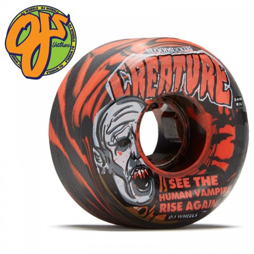 【オージェイ OJ WHEELS スケボー ウィール】CREATURE BLOODSUCKERS 97A WHEEL SWIRL【56mm】NO47