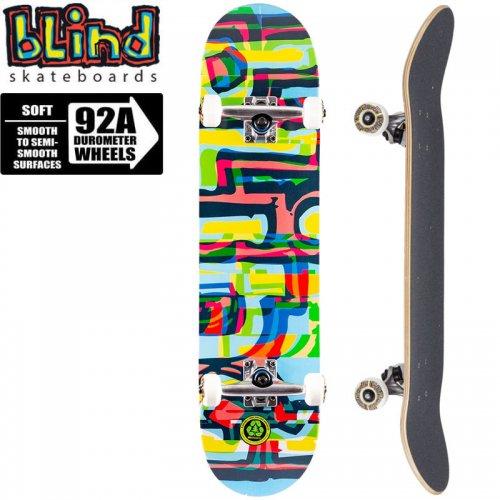 【ブラインド BLIND スケートボード コンプリート】LOGO GLITCH FP COMPLETE 92A[7.875インチ]NO131