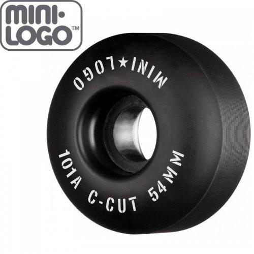 【MINI LOGO スケボー ウィール】C-CUT 2 ブラック 101A【52mm】【54mm】NO85