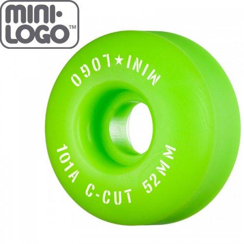 【MINI LOGO スケボー ウィール】C-CUT 2 グリーン 101A【52mm】【53mm】【54mm】NO86