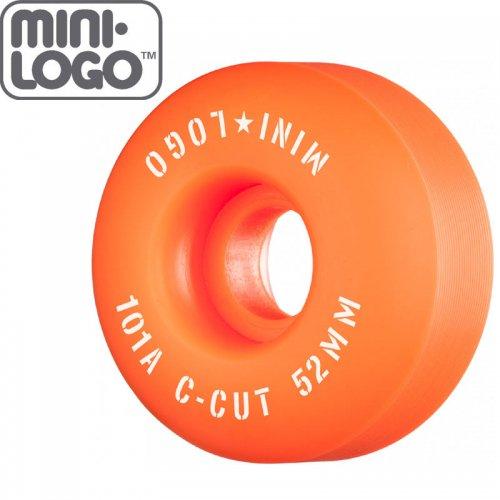 【MINI LOGO スケボー ウィール】C-CUT 2 オレンジ 101A【52mm】【54mm】NO87