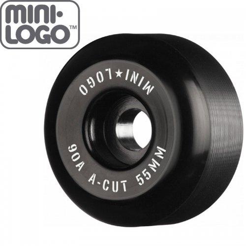 【MINI LOGO スケボー ウィール】HYBRID A-CUT ブラック 90A【55mm】NO88
