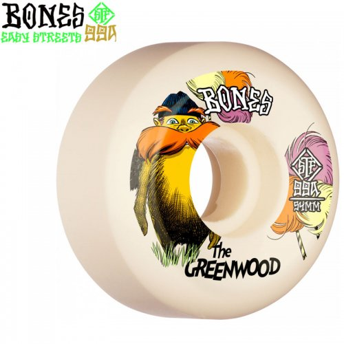 【ボーンズ BONES スケボーウィール】GREENWOOD STF V5 SIDECUT 99A【52mm】【54mm】NO204