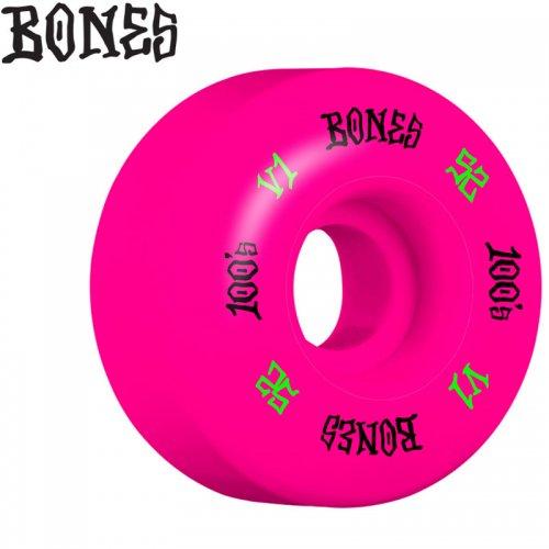 【ボーンズ BONES スケボー ウィール】100 PINK O.G. FORMULA V1 100A【52mm】NO209