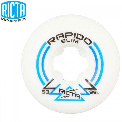 【リクタ RICTA スケボー ウィール】RAPIDO SLIM 99A【53mm】NO45