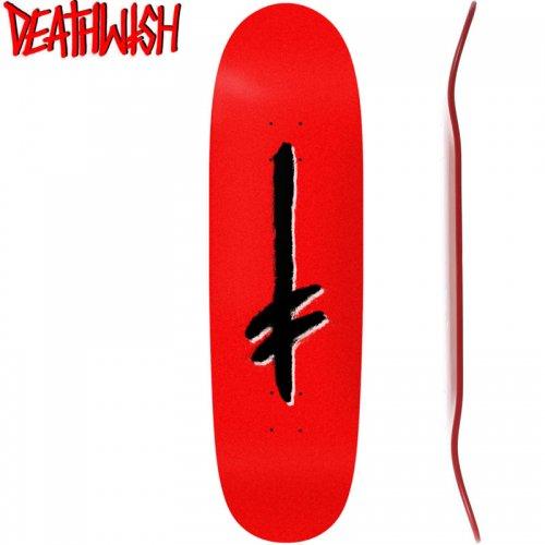【デスウィッシュ DEATH WISH スケボー デッキ】GANG LOGO  SHAPED DECK[9.1インチ]NO96