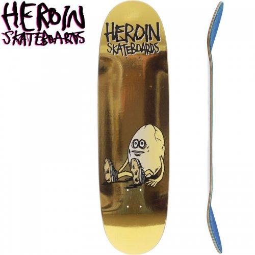 【HEROIN SKATEBOARDS ヘロイン デッキ】GOLDEN EGG SHAPED DECK[9.125インチ]NO46