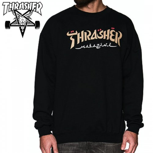 【スラッシャー THRASHER スウェット】CALLIGRAPHY CREWNECK SWEATSHIRT NO28