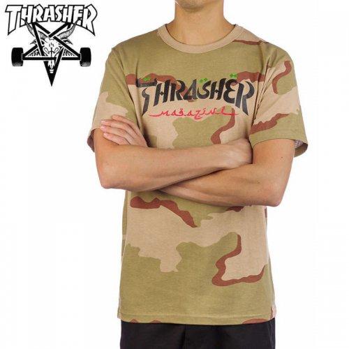 【スラッシャー THRASHER Tシャツ】CALLIGRAPHY T-SHIRT デザートカモ NO121