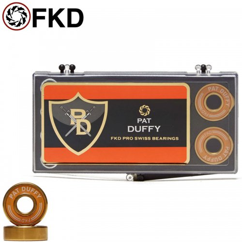 【FKD スケボー ベアリング】PRO GOLD DUFFY BEARINGS ABEC7相当 NO17