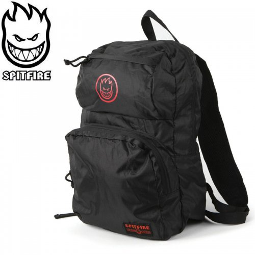 【SPITFIRE スピットファイヤー スケボー バッグ】BIGHEAD CIRCLE PACK RED/BLACK BACKPACK 折り畳みバッグ NO23