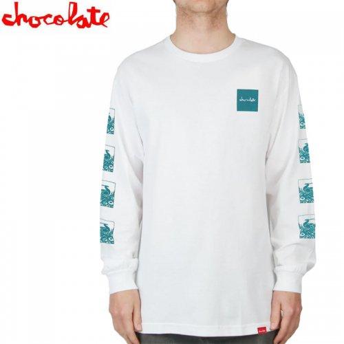 【チョコレート CHOCOLATE スケボー ロングTシャツ】PEACOCK L/S TEE ホワイト【ホワイト】NO15