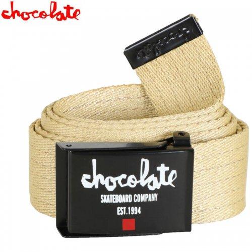 【CHOCOLATE チョコレート スケボー ベルト】CHUNK EST WEB BELT カーキ NO13