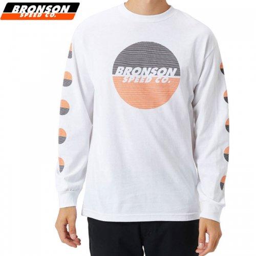 【BRONSON SPEED CO ブロンソン スケボー ロンT】BSC LINES L/S TEE ホワイト NO5
