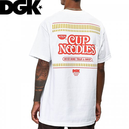 【DGK ディージーケー スケボー Tシャツ】CUP NOODLES LOGO TEE【ホワイト】NO306