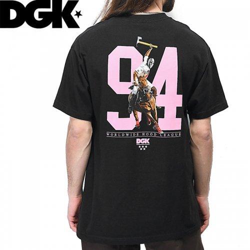 【DGK ディージーケー スケボー Tシャツ】HOOD LEAGUE TEE【ブラック】NO307