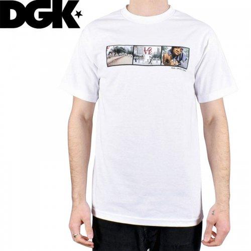 【DGK ディージーケー スケボー Tシャツ】RUN SKATE CHILL TEE【ホワイト】NO308