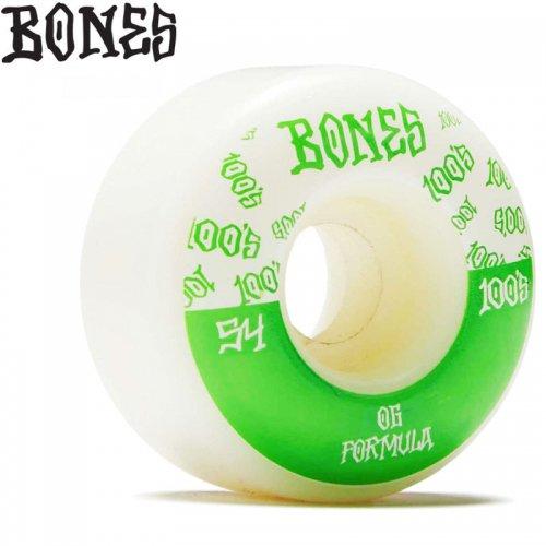 【ボーンズ BONES スケボー ウィール】100S O.G. FORMULA V4 100A【54mm】NO222