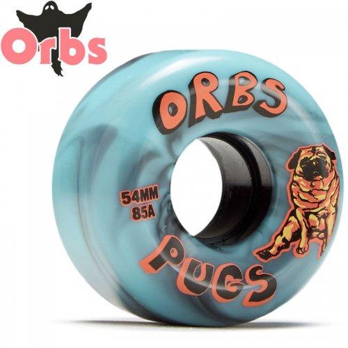 【オーブス ORBS スケボー ウィール】PUGS WHEELS クルーザー ソフト 85A ブルー【54mm】NO15