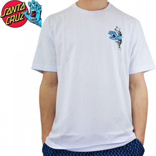 【サンタクルズ SANTA CRUZ スケボー Tシャツ】WALL HAND S/S TEE ホワイト NO122