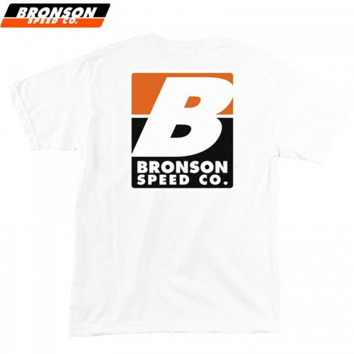 【BRONSON SPEED CO ブロンソン スケボー Tシャツ】BIG B REGULAR TEE ホワイト NO4