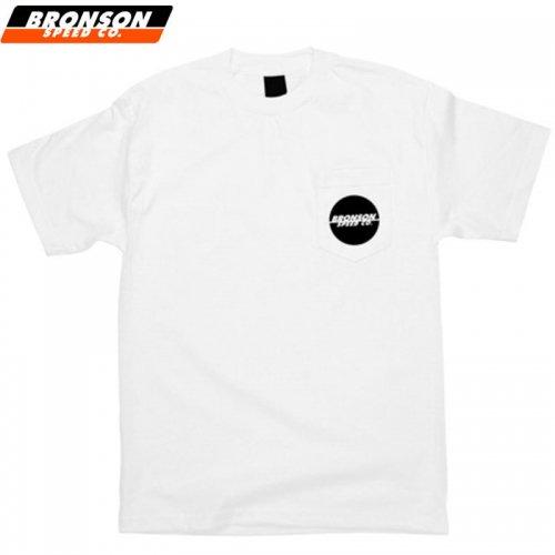 【BRONSON SPEED CO ブロンソン スケボー Tシャツ】ONE COLOR SPOT POCKET TEE ホワイト×ブラック NO6