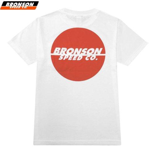 【BRONSON SPEED CO ブロンソン スケボー Tシャツ】ONE COLOR SPOT POCKET TEE ホワイト×オレンジ NO7