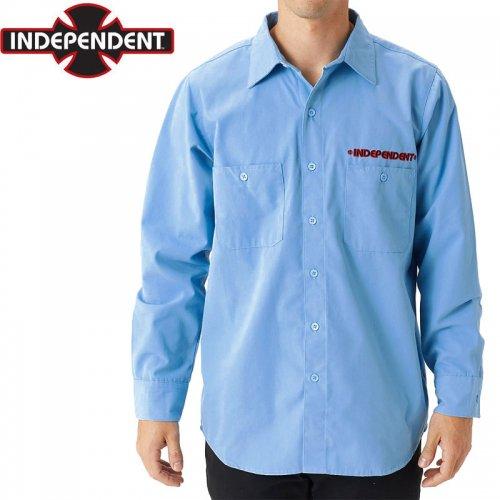 【インディペンデント INDEPENDENT ワークシャツ】GRINDSTONE L/S WORK SHIRT ブルー NO2