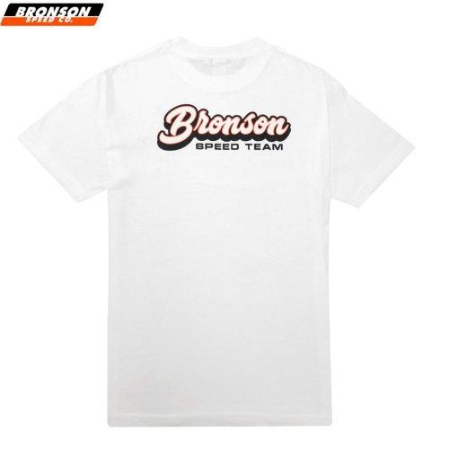 【BRONSON SPEED CO ブロンソン スケボー Tシャツ】SPEED TEAM REGULAR TEE ホワイト NO9