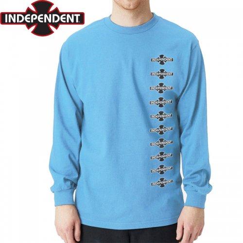 【インディペンデント ロングTシャツ】O.G.B.C. VERTICAL L/S TEE【カロライナブルー】NO10