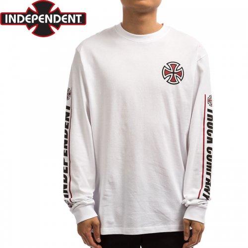 【インディペンデント ロングTシャツ】SHEAR L/S TEE【ホワイト】NO15